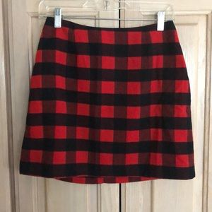 Old Navy buffalo check flannel skirt
